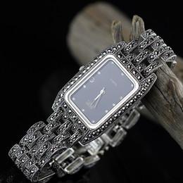 2019 часы из чистого серебра Горячие Продажи Женщин Классический Тайский Серебряный Браслет Часы S925 Серебряный Браслет Смотреть Pure Часы Реальный Браслет дешево часы из чистого серебра