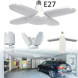 Ha condotto le lampade ad alta alloggiamento e27 online-60W 3200lm E27 LED Garage Work Shop Lights casa dispositivo del soffitto deformabile Lamp High Bay lampada industriale