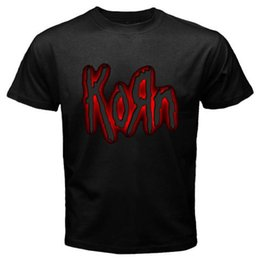 classic rock shirts Coupons - New Korn Metal Rock Band Red Logo T-Shirt white black grey red trouser suit hat pink t-shirt RETRO VINTAGE Classic t-shirt