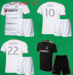 bd498811861 Kids Kit 2019 LAFC Soccer kit Los Angeles FC Children Football Sets 19 20  VELA ROSSI CIMAN ZIMMERMAN Football Shirts Shorts Boys Sports Suit