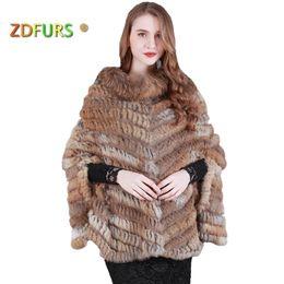 92a71435e capitalKeyWord NZ - ZDFURS * new fashion real knited rabbit fur Shawl poncho