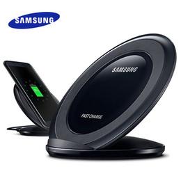 carregador sem fio s6 original Desconto 100% Original Samsung Carregador Sem Fio Galaxy S7 S7 Edge S6 S6 Edge Note 5 8 S8 Carregamento Rápido Rápido 9 V 1.67A Adaptador de Suporte Qi