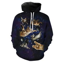 Hommes Hoodie Space Cats 3D Complet Imprimé Homme Sweat À Capuche Unisexe Décontracté Pulls À Capuche Manches Longues Sweats Tops Numériques (R2412) ? partir de fabricateur
