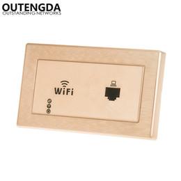 Presa di corrente standard online-118 TIPO US-Standard Socket WiFi Range Embedded WIFI Panel AP Router Camera d'albergo coperta nella parete AP