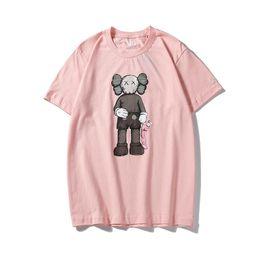 2019 animal de visón blanco 2019 Diseñador de moda KAWSUNIQLO camisetas de dibujos animados bandera pirata parodia hombres mujeres streetwear camiseta XX unisex sésamo calle estilo camiseta