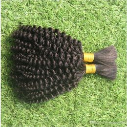 2019 бразилец вьющиеся волосы черные как смоль Jet Black Color 100% бразильская человеческая масса для плетения волос дешево бразилец вьющиеся волосы черные как смоль