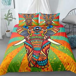 2020 trapunte di elefante Mandala Bedding Set 3pcs Elephant copripiumino copripiumino Bedcloth OEM Re Regina Doppio Dimensione Home Textile sconti trapunte di elefante