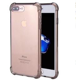 logo apple back door Sconti 2019 NEW Super anti bussare TPU trasparente trasparente cassa del telefono proteggere la copertura antiurto casi morbidi per iPhone 6 7 8 plus