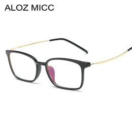 8aa1fe37a79 plastic eyeglasses metal Promo Codes - ALOZ MICC 2019 New men Glasses frame  retro designer myopia