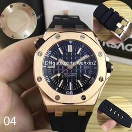 Уплотнения смотреть онлайн-11 цветов роскошные часы черный циферблат резинкой из розового золота из нержавеющей стали автоматические часы 15710ST 42 мм мужчины уплотнительная нижняя крышка