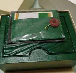 Green Brand Watch Box Оригинал с карточками и бумагами Сертификаты Сумочка для часов 116610 116660 116710 от
