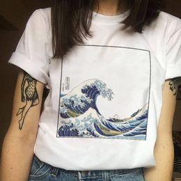 2019 shorts de diversão Moda feminina Harajuku ulzzang onda tamanho grande impressão Japonesa divertido de manga curta T-shirt tops tees nova onda S-3XL T-shirt shorts de diversão barato