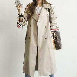Frauen geschäftskleidung online-Frühling Herbst Neue Mode Frau Klassische Zweireiher Trenchcoat Business Oberbekleidung Weibliche Lose Kleidung Dropshipping