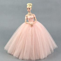 Deutschland Dress + Veil / Pink Lace Party Kleid Abendkleid Bubble Rock Kleidung Outfit Zubehör für 1/6 BJD Xinyi FR ST Barbie Doll Versorgung