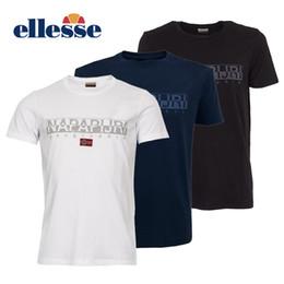 Canada Napapijri Sapriol Core T-shirts à manches courtes Noir Blanc Marine Haute Qualité Mode Hommes D'été T-shirt À Manches Courtes S-3XL cheap navy short sleeve shirt Offre
