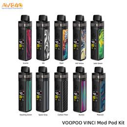2019 moduli tubi ecig Voopoo Vinci Mod Pod Kit 40W Built-in 1500mAh batteria con 5.5ml Visibile Pod V Voopoo trascinare 2 100% originale