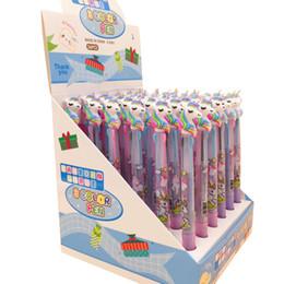 Escola caneta kawaii on-line-30 pçs / lote kawaii unicórnio 3 cor imprensa caneta melhores presentes para os alunos caneta esferográfica escola e escritório assinatura