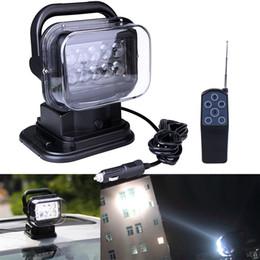 Luz de feixe conduzida ao ar livre on-line-Ponto do feixe 50W Luz de trabalho de 360 graus de rotação Pesquisa Luz do carro SUV Spotlight externas holofote condução remoto luzes lâmpada de pesca sem fio