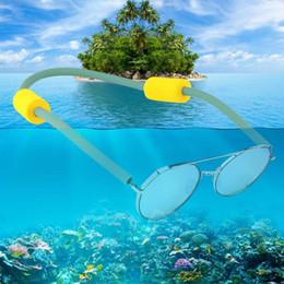 Schwimmende gläser online-Schwimmende Sonnenbrille Kette Brille Schnur Brillen Eyewear Silikonschnur Treiben Schwimmen Seil Sommer Schwimmen Ausrüstung