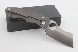 2019 facas de borboleta flail Alta qualidade reino arsenal bill personalizado o açougueiro faca dobrável d2 lâmina de jateamento de areia titanium lidar com sobrevivência tático camping facas