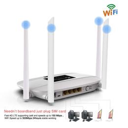 Huawei fente pour carte sim en Ligne-Lot de 10pcs Routeur Wifi 4G LTE débloqué 300Mbps, Routeur CPE sans fil intérieur 4G avec antennes 4Pcs et port LAN Emplacement pour carteSK PK HUAWEI B593