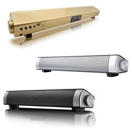 Amplificador de micrófono usb online-S08 Ordenador Bluetooth Altavoz 12w Amplificador de Altavoz Inalámbrico HIFI 3D Barra de Sonido Estéreo con Micrófono USB TV fone de ouvido
