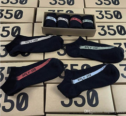 bio-box großhandel Rabatt Neueste Ankunft 350 V2 Socken der gleiche Absatz ein Kasten 4 Paare 4 Farbe SPLY - 350 Mann-Frauen-Socken freie Größe 350 Sportsocken