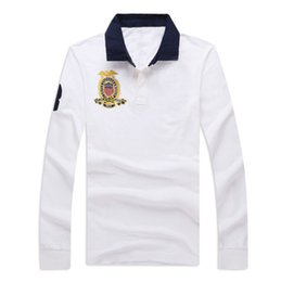 a92c8a5f21 China 19SS Mens Brand Polo Shirt 3 Colors Embroidery Print Long Sleeve Polo  Turn Down Neck