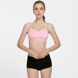 le donne vedono i bras Sconti LU-19 No-see throgh Sexy Reggiseno imbottito Flow per donna Gym Yoga senza cuciture Abbigliamento Fitness traspirante Sports Canotta elasticizzato XS-XL
