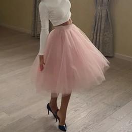2c693aea8fa blue pleated midi skirt 2019 - Quality 5 Layers Fashion Tulle Skirt Pleated  TUTU Skirts Womens