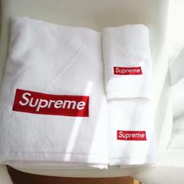 Deux serviettes en Ligne-Nouveau Deux pcs ensemble de serviette brodée enfants Vêtements adultes mode confort coton en peluche serviette deux pièces simple serviette blanche
