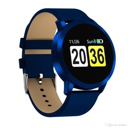Deutschland Q8 Smart Watch Blutsauerstoff / Schlaf / Pulsmesser Informationen Push für iPhone 6 7 8 X Bluetooth Smart Watch für iPhone DHL Versorgung
