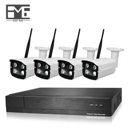 outdoor cctv ip wifi câmeras Desconto BFMore Câmera IP Sem Fio 4CH H.265 2.0MP NVR Kit CCTV Sistema de Câmera de Segurança Ao Ar Livre Definir IR Night Vision Wifi À Prova D 'Água
