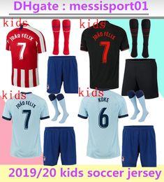 Jersey diego costa online-2019/20 Kinder nach Hause dritte Atletico Fußball Jersey JOÃO FÉLIX MORATA Fußball-Hemd SAUL DIEGO COSTA 19 20 Kinder Fußball-Trikots weg