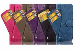 Carte de note en Ligne-Portefeuille pivotant Flip PU Housse en cuir avec fentes pour cartes pochette pour iphone Xs Max XR 8 7 6S Plus Samsung S7 S8 S9 S10e Plus Note 9