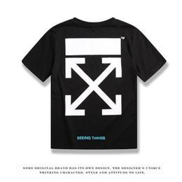 Argentina Las camisetas de diseñador para hombre se diseñaron en blanco y negro, y las camisetas de diseñador de lujo de la marca OFF tenían mangas cortas cheap white t shirts designs Suministro