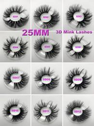 2019 emballage de boîte de maquillage Cils 3D en vison 5D 25mm longs cils épais en vison avec boîte d'emballage en cils pour les yeux maquillage maquillage emballage de boîte de maquillage pas cher