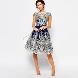 2019 herbst sommer charmante kleider European and American Women's Dresses Summer Designer Short Sleeve Retro Mesh Embroidery Tutu Dress Free Shipping