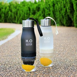 adult bottle Promo Codes - New Xmas Gift 650ml My Water Bottle plastic Fruit infusion bottle Infuser Drink Outdoor Sports Juice Portable Kettle