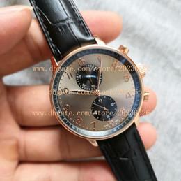 Boucles de sangles militaires en Ligne-Nouveau montres de sport pour hommes d'or du Japon VK mouvement à quartz Vrai bracelet en cuir boucle originale homme montre-pilote de pilote militaire montre