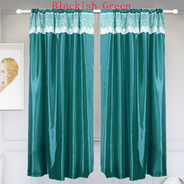 Занавески для кухни онлайн-New Lace Short Curtains For Kitchen Voile Curtains For Living Room Bedroom Sheer Solid color Window Screening Drape BS