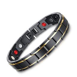 африканский медный браслет Скидка 2019 Новый 5 цветов здоровья Энергетический баланс Магнитный браслет из нержавеющей стали для мужчин мужские браслеты женщина ювелирных