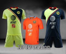 Camisetas de fútbol más nuevas de calidad tailandesa Club de fútbol de América Juego de la tercera camiseta del hogar ausente 2018 2019 FC conjunto de fútbol personalizado todos los logotipos desde fabricantes
