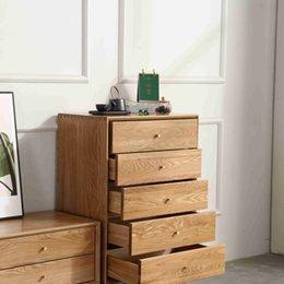 nordic wood cabinet apartment furniture Japanese expression bedroom bedside storage cabinet