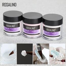 Polvo de polietileno online-Polvo acrílico en polvo Gel para esmalte de uñas Decoraciones artísticas de cristal Kit de manicura profesional Accesorios para uñas