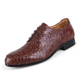 3bb0cdfcb Split Leather Oxford Shoes For Men Business Oxford Size 38-50 Men Crocodile  Shoes Men's Dress Man Wedding crocodile shoes for men outlet