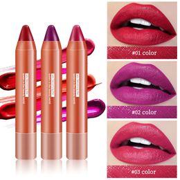 2019 tubo rojo coreano Tubo rojo Lápiz labial mate Barras de labios de larga duración Maquillaje desnudo Cosméticos para labios Terciopelo Rojo Lápiz labial impermeable Cosméticos coreanos tubo rojo coreano baratos