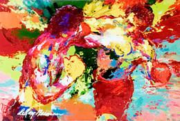 Rocky Balboa gegen Apollo Creed Knockout Punsch Kunstdruck Poster 24x36inch (60x90cm) 016 von Fabrikanten
