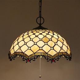 2019 glas-industrie-schlafzimmer pendelleuchten 16 Zoll Moderne Europäische Industrielle Pendelleuchten Glas Schlafzimmer Esszimmer Lampe Glasmalerei Tiffany Bar Hanglamp günstig glas-industrie-schlafzimmer pendelleuchten