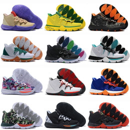 3ff22083cf89 2019 New 5 5s V Basketball Shoes For Men Black Magic Kyrie Chaussures  Sports Sneakers Mens Trainers High Ankle Basketball Shoes Size 40-46.